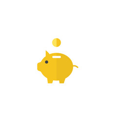 Flat piggy bank element of vector