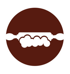 kitchen wooden roller icon vector image