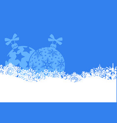 Christmas banner with snowflakes and balls vector