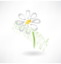 Daisy grunge icon vector