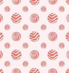 Pink soft polka dot seamless pattern vector image