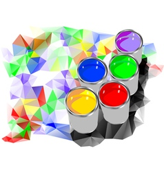 Can of paint vector