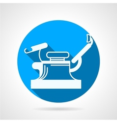 Round blue icon for gynecology chair vector