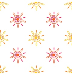 Seamless sun background vector