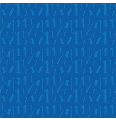 Number one blue seamless pattern vector