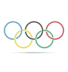 Olympic emblem made with people icon pictograph vector