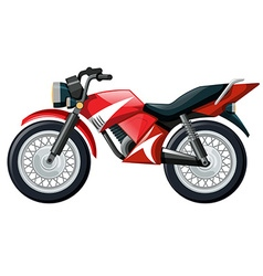 Motorcycle in red color vector