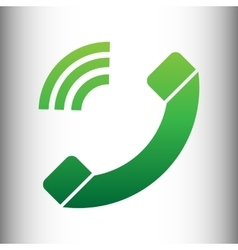 Phone sign green gradient icon vector