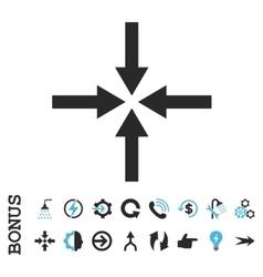 Impact Arrows Flat Icon With Bonus vector image
