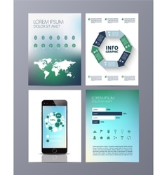 Abstract eco Brochure Flyer design template vector image vector image