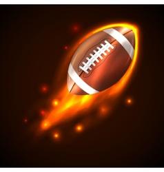 American football on fire vector