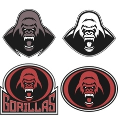 Angry gorilla symbol vector