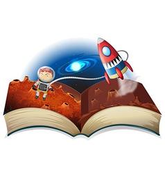 Astronaut book vector image vector image