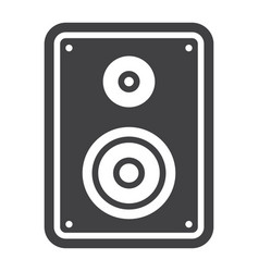 Audio monitor solid icon sound and speaker vector