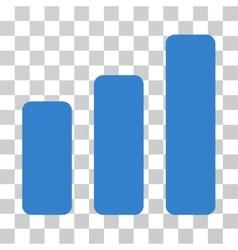 Bar chart increase icon vector