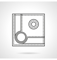 Billiard ball flat line icon vector