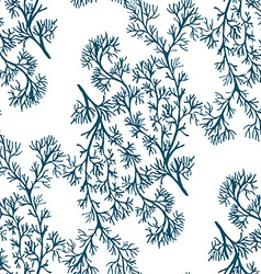 Blue coral pattern3 vector image vector image