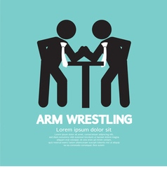 Businessman arm wrestling symbol vector