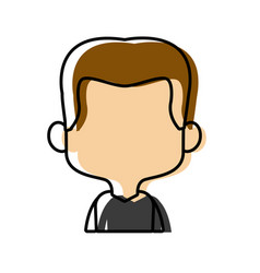 character man male portrait happy people vector image vector image