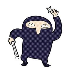 Comic cartoon ninja vector
