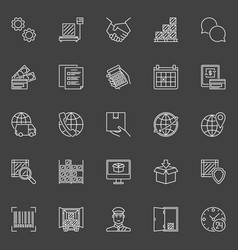 delivery and logistics icons vector image vector image