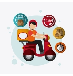 delivery motorcycle design vector image