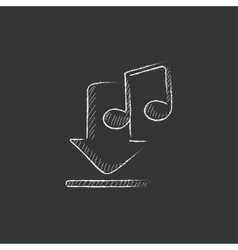 Download music Drawn in chalk icon vector image vector image