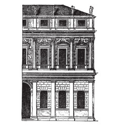 Faade of a palace at vicenza is generally of vector