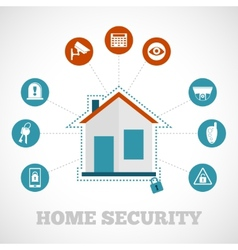 Home Security Icon Flat vector image vector image