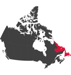 Map of canada - newfoundland and labrador vector