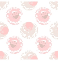 Pink and beige blots on white background vector image vector image