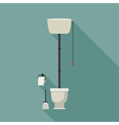 Retro toilet vector