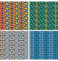 Seamless abstract art pattern set vector