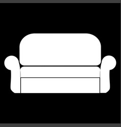 Sofa it is the white color icon vector