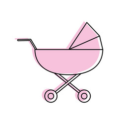 stroller baby related icon image vector image vector image