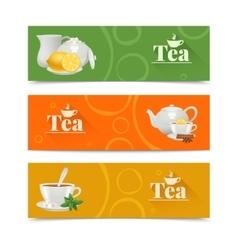 Tea banners set vector