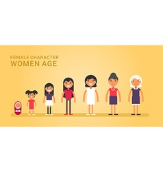 Women age Generations life stages of women Web vector image