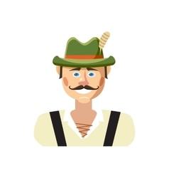 Bavarian man icon cartoon style vector
