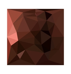 Saddle brown abstract low polygon background vector