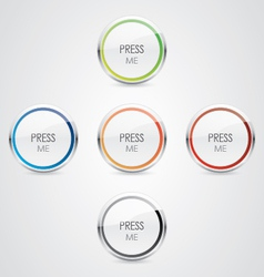 Press me button vector