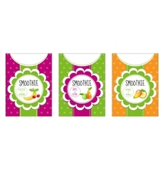 Labels set smoothies vector