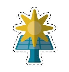 Solar panel energy environment symbol -cut line vector