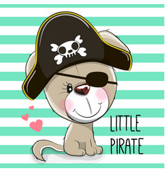 Little puppy pirate vector