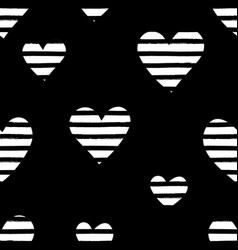 Striped hearts pattern vector