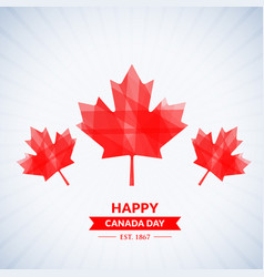 Beautiful happy canada day background vector