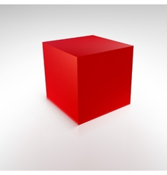 Red cube with reflections and shadows vector