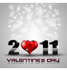 2011 Valentine's day vector image vector image