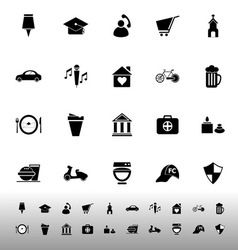 Map sign and symbol icons on white background vector