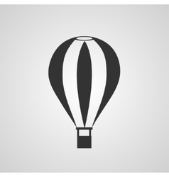 Vintage hot air balloon flat style vector
