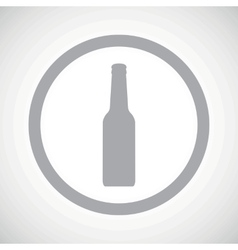 Grey bottle sign icon vector
